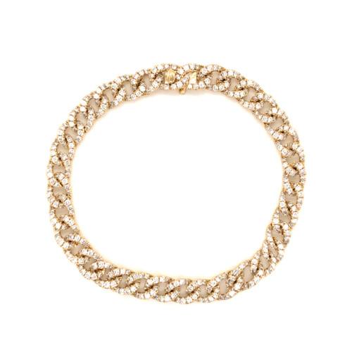 Cuban Link Pave Diamond Bracelet