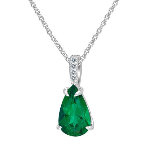 Emerald Pear Shape Pendant