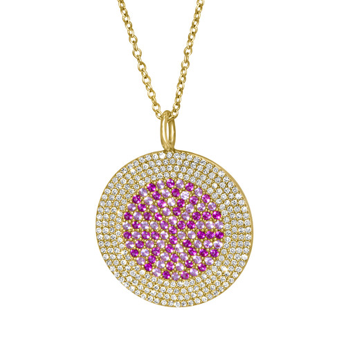 Pink Sapphire, Ruby and Diamond Medallion
