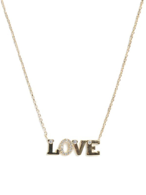 LOVE Necklace in Gold and Diamonds