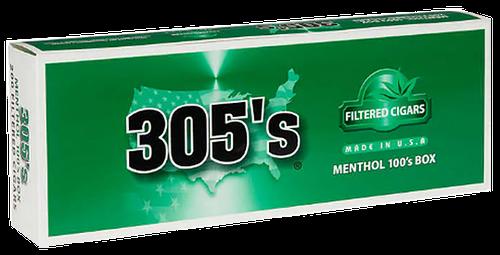 305's Little Filtered Cigars Menthol 100's