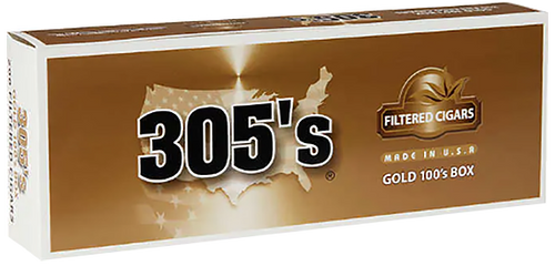 305's Little Filtered Cigars Gold 100's