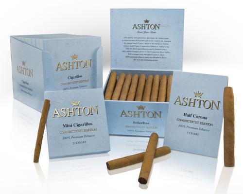 Ashton Small Cigars Connecticut Mini Cigarillos