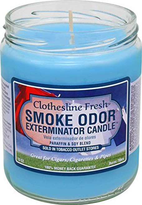 Smoke Odor Candle Clothesline Fresh