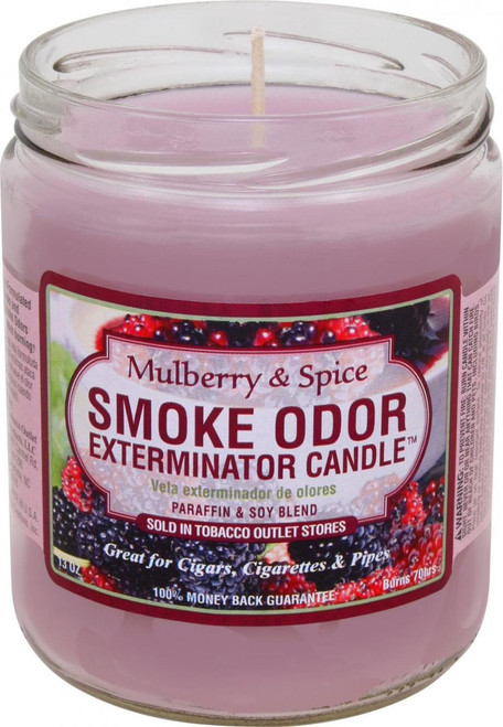 Smoke Odor Candle Mulberry and Spice