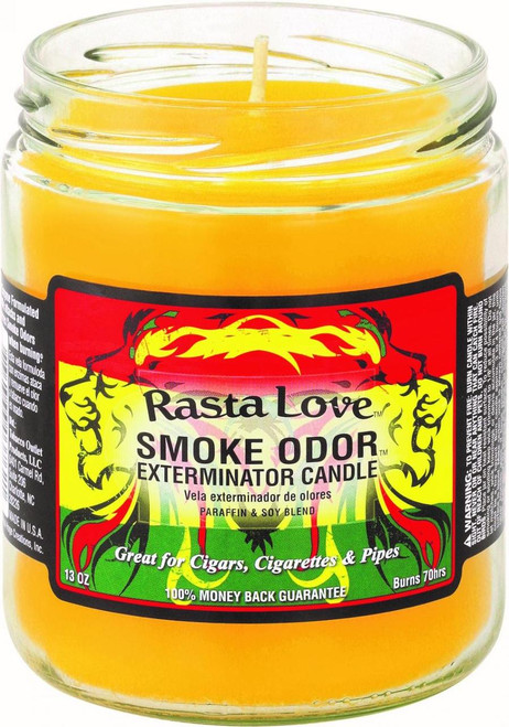 Smoke Odor Candle Rasta Love