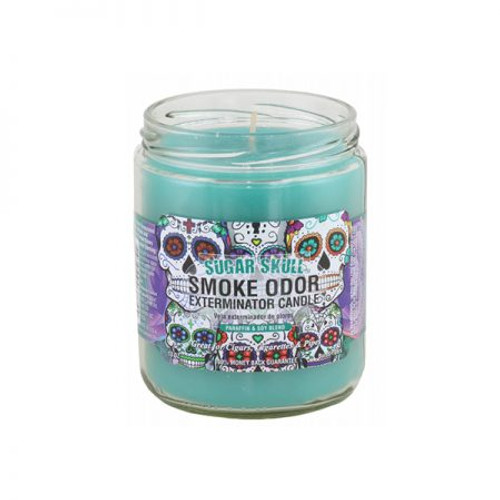 Smoke Odor Candle Sugar Skull