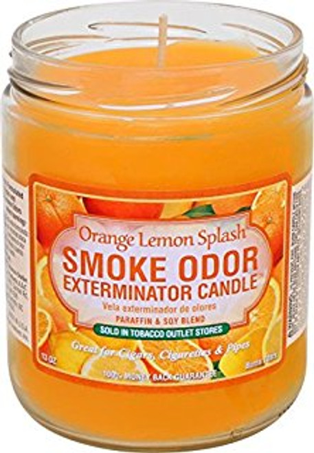 Smoke Odor Candle Orange Lemon Splash