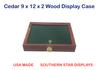9 x 12 x 2   Wood Display Case