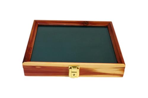 12 x 9.5 x 2 Cedar Display Case