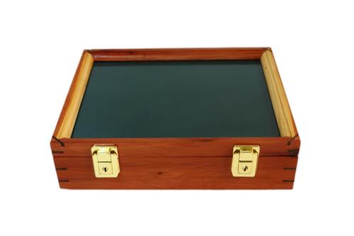 12 x 9.5 x 3 Cedar Display Case