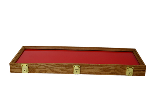 25 x 9 x 2 Oak Display Case