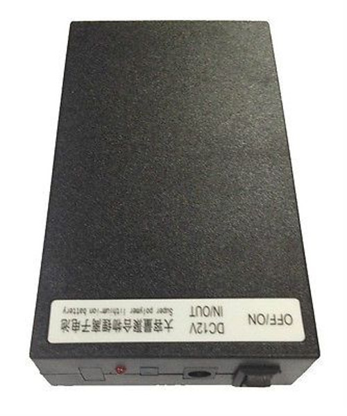 12V DC Rechargeable Li-ion Battery Pack (Black case) 6800mAh Lithium-ion UK