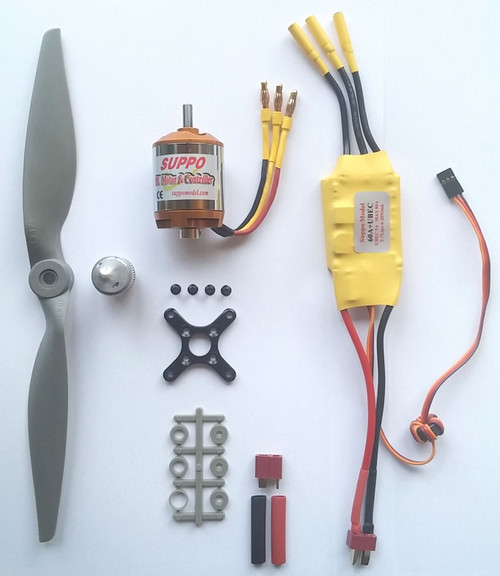 Brushless Motor+ESC+Prop Power Kit for up to 3000g RC Model Airplanes - for 4S