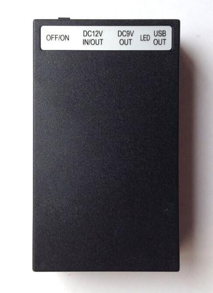 12V 6500mah/9V 8500mah/5V USB 15000mah DC Rechargeable Li-ion Battery UK Charger