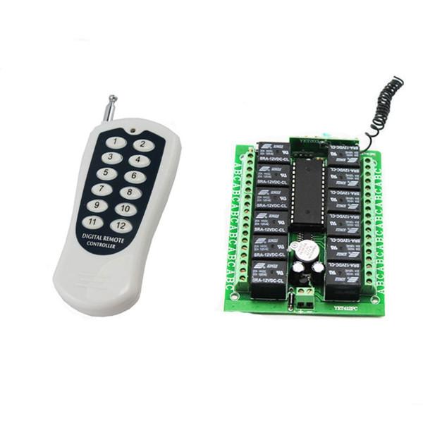12 Channel AC DC 12V RF Wireless Remote Control Switch Receiver+Transmitter 12CH