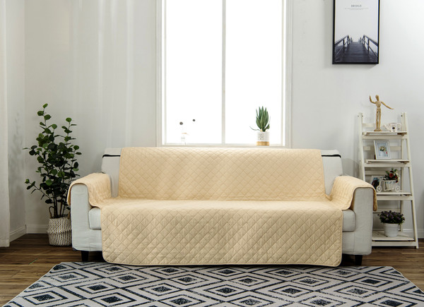 Armchair, Sofa, Couch Cover - Reversible Furniture Protector - With Strap