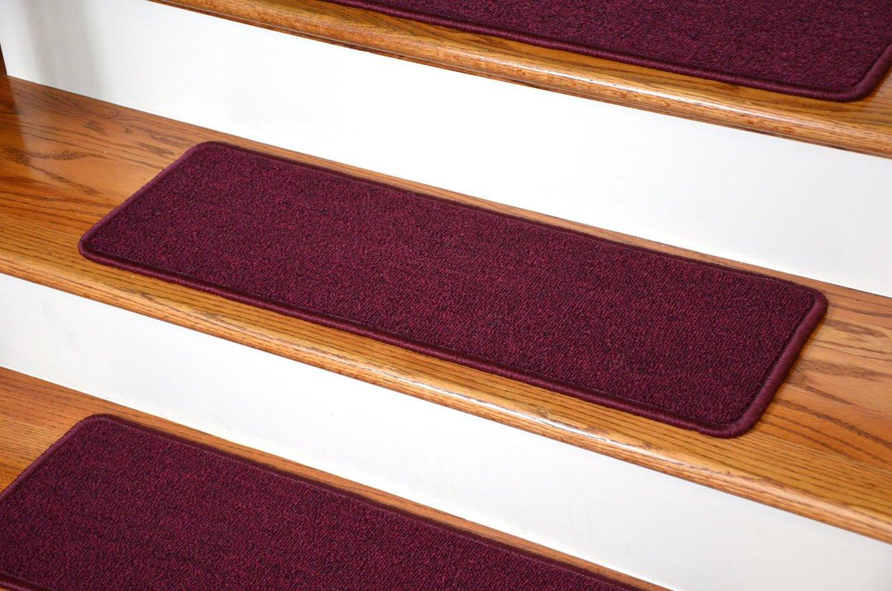 Dean DIY Peel and Stick Serged Non-Skid Carpet Stair Treads