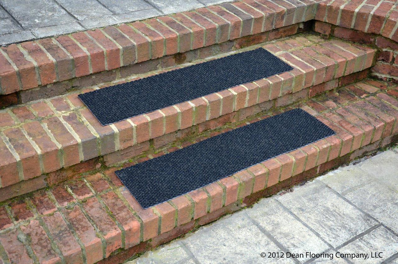 Dean Indoor Outdoor Non Skid Carpet Stair Treads Black 24 X 9 Set Of 4 Dean Stair Treads