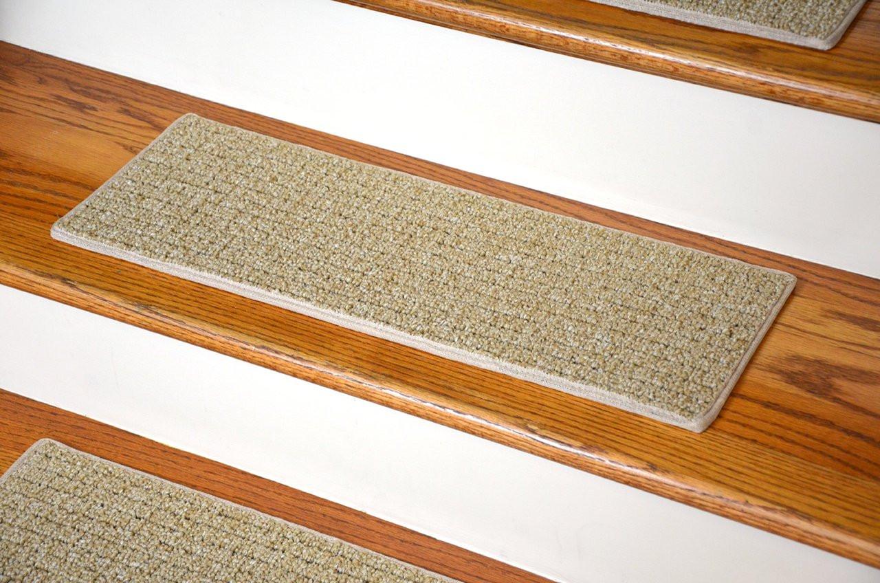 Beige Indoor Outdoor Tape Free Stair Treads 23 X 8
