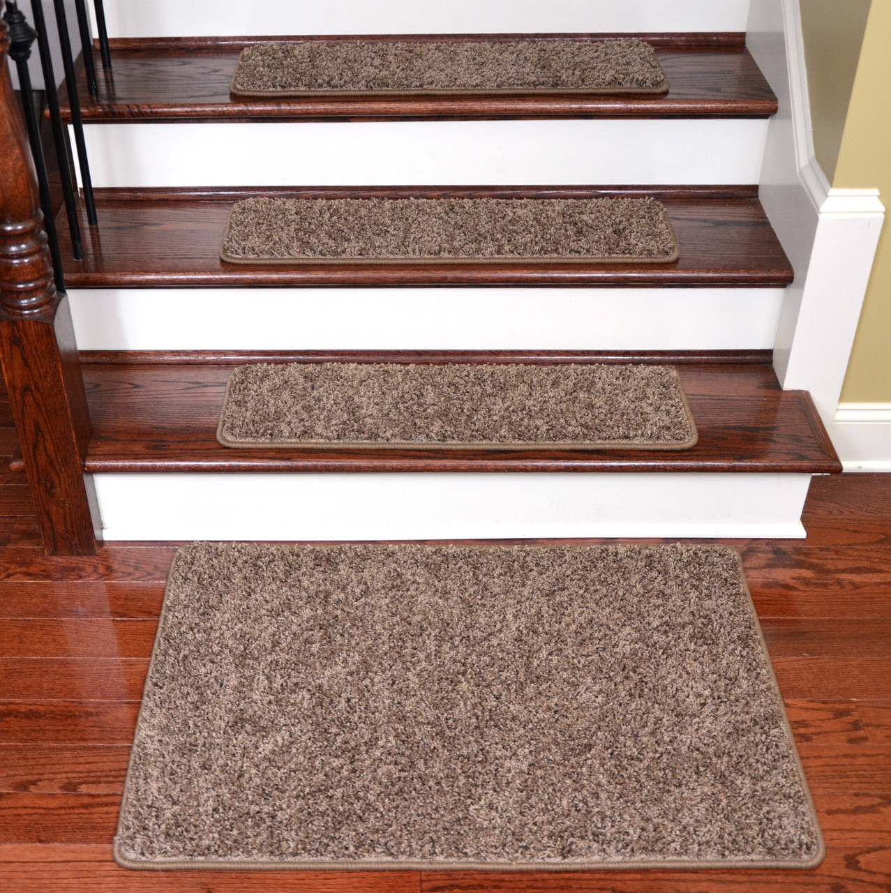 Diy Stair Treads Out Of Flor Tiles: Brown Tape-Free Stair Treads & Landing Mat