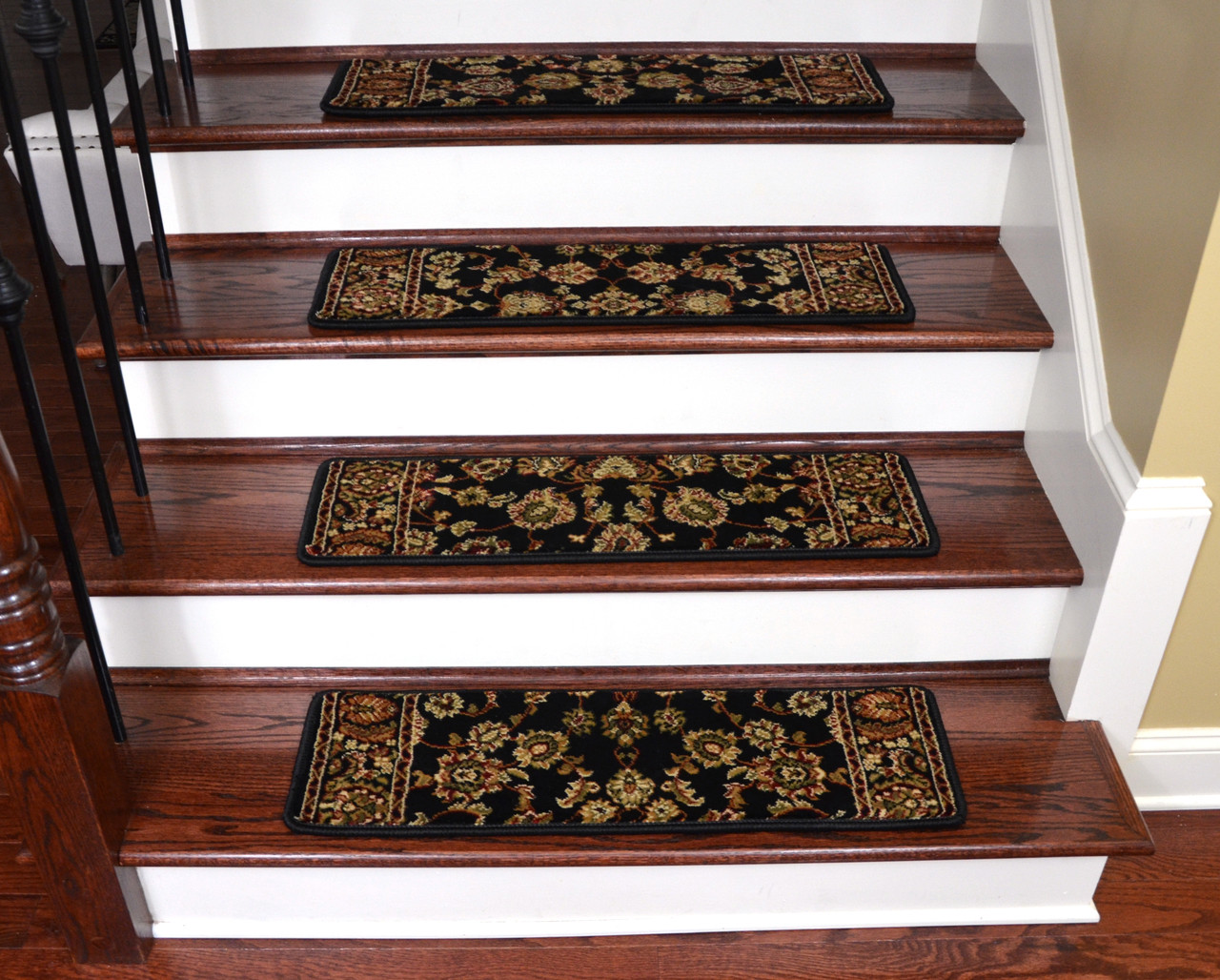 Image of: Keshan Ebony Non Slip Carpet Stair Treads 31 X 9