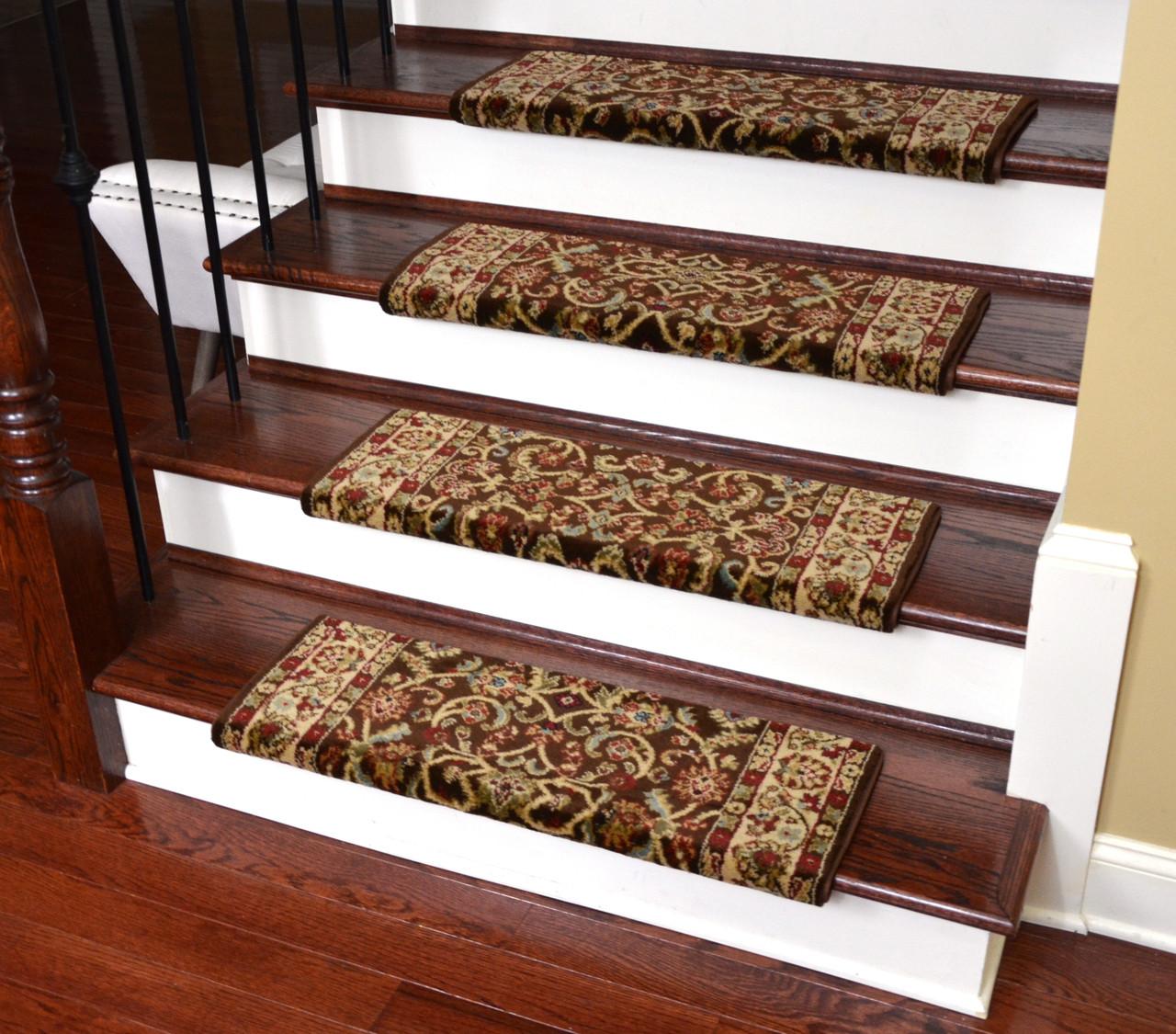 Dean Classic Keshan Bullnose Carpet Stair Treads