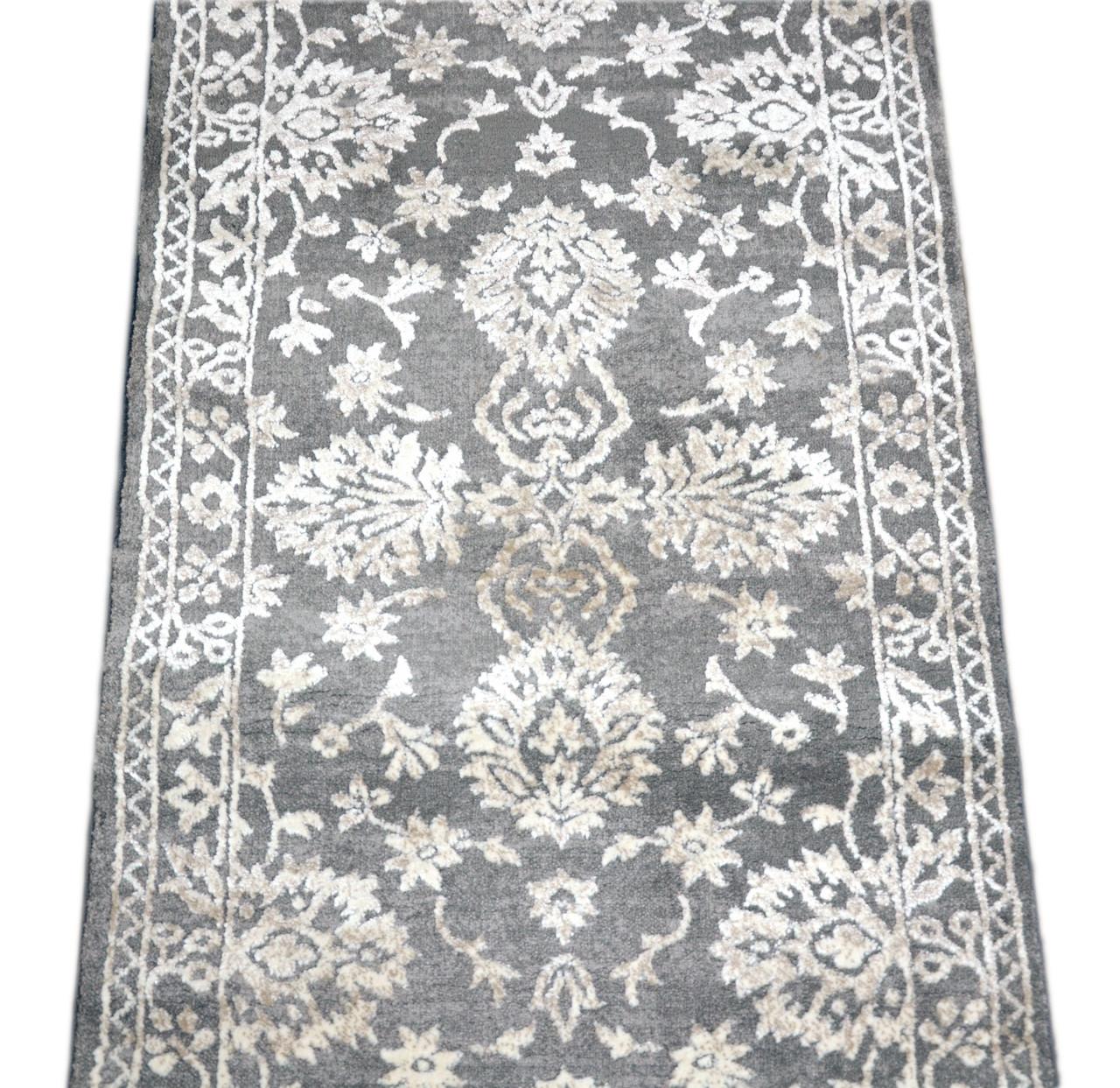 Dean Thema Anatolia Gray Carpet Rug Hallway Stair Runner