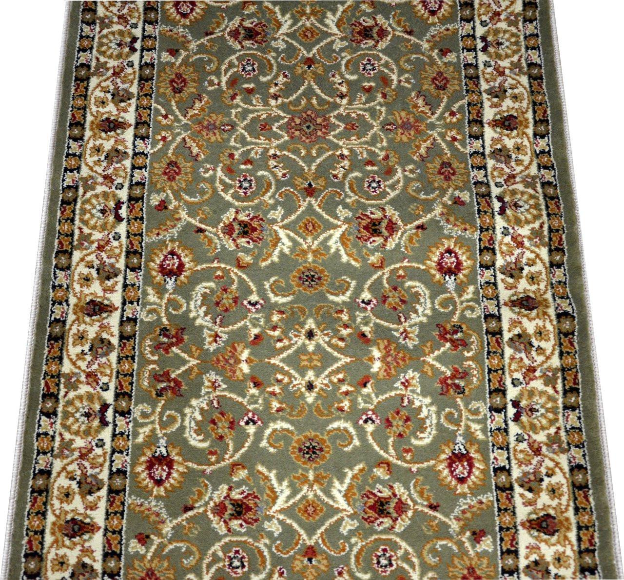 Dean Classic Keshan Sage Carpet Runner Custom Size