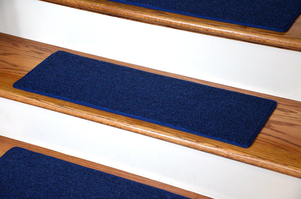 Dean Diy Carpet Stair Treads 23 X 8 Navy Blue Set Of