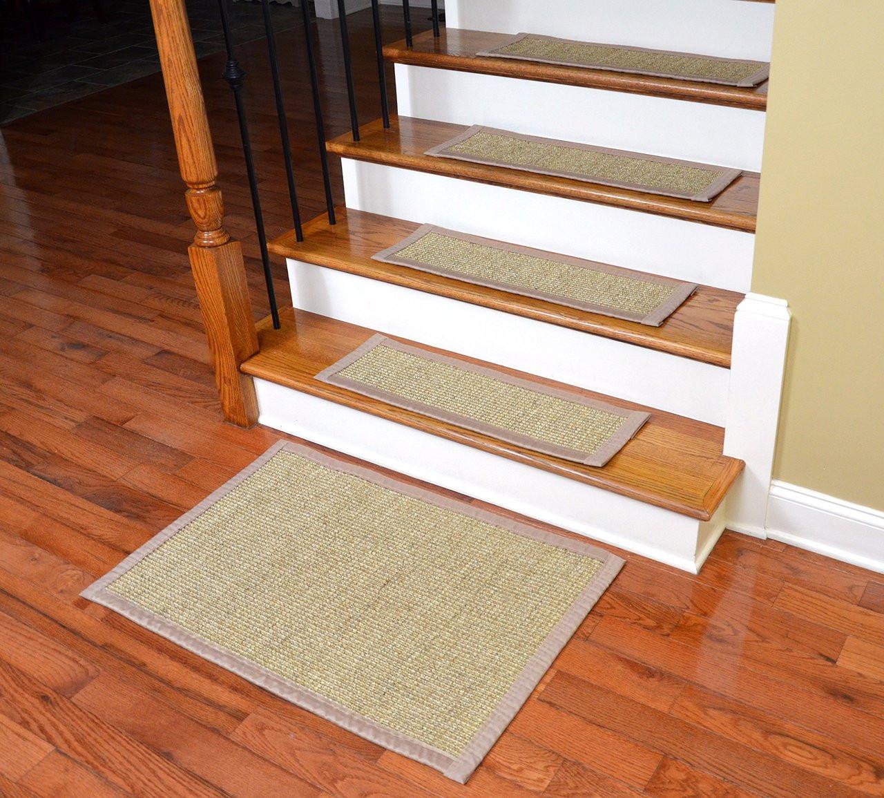 Image of: Dean Sisal Carpet Stair Treads Set Of 13 W Landing Mat