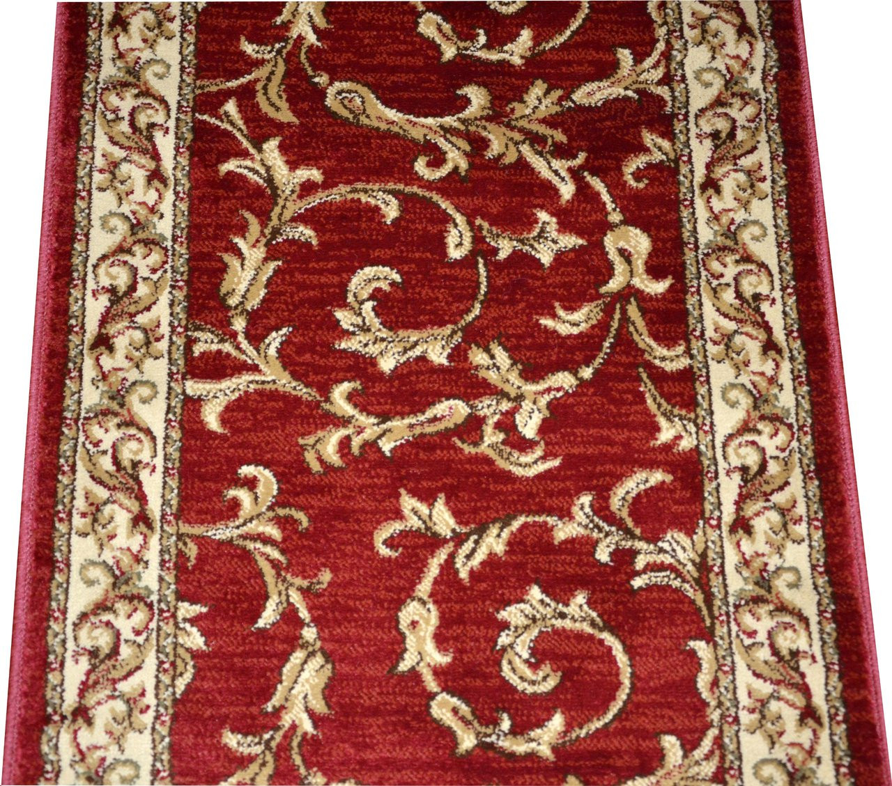 Dean Red Scrollworks Carpet Rug Hallway Stair Runner Purchase By The Linear Foot Dean Stair Treads