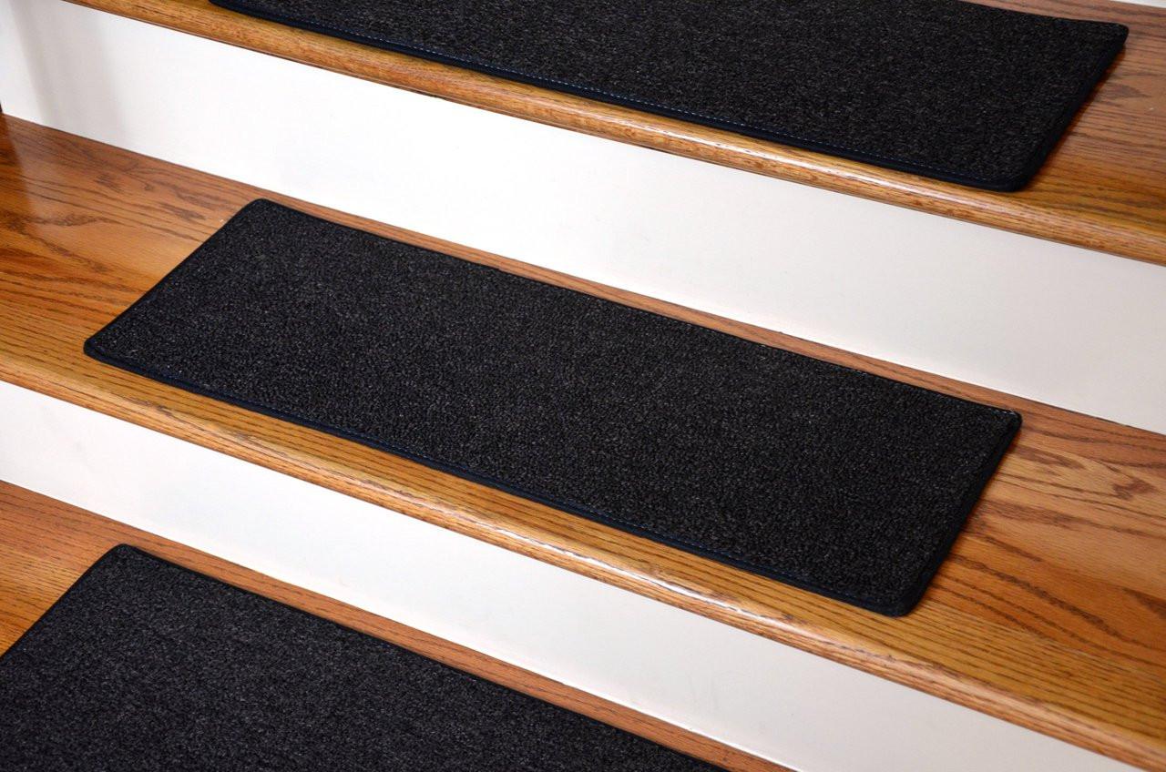 Image of: 13 Diy Carpet Stair Treads 23 In By 8 In Black