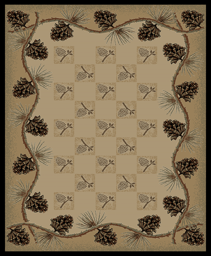 Arrowrock Ivory Western Cabin Rug Various Sizes and Shapes with FREE Shipping