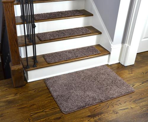 Dean Washable Non Slip Carpet Stair Treads Fresh Coffee
