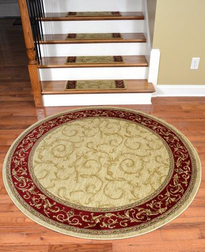 Dean Premium Carpet Stair Treads Tan Scrollworks Plus