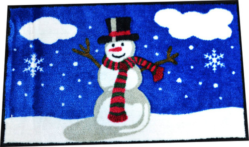 Icy The Snowman Washable Handcarved Non Skid Christmas