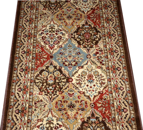 Dean Panel Kerman Chocolate 31 Quot W Carpet Rug Hallway Runner