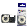 Compatible Label-It tape - 12mm black on white