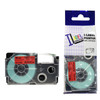 Compatible Label-It tape - 18mm black on red