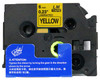 1/4 black on yellow label tape p-touch tape