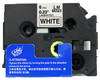 1/4 black on white label tape