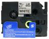 3/4 black on white label tape