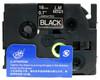 3/4 white on black label tape