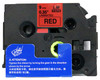 3/8 black on red label tape