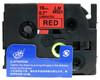 3/4 black on red label tape