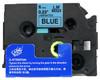 1/4 black on blue label tape