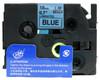 3/4 black on blue label tape