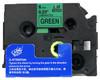 1/4 black on green label tape