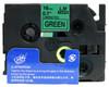 3/4 black on green label tape